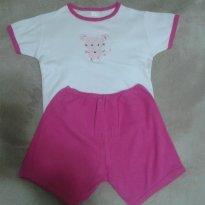 Pijama menina em algodão - 4 anos - Gog Basic