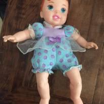 Boneca Bebê - Princesas Disney - Ariel com Pet - Mimo -  - Mimo