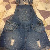 Jardineira jeans - 10 anos - Miss Fifteen