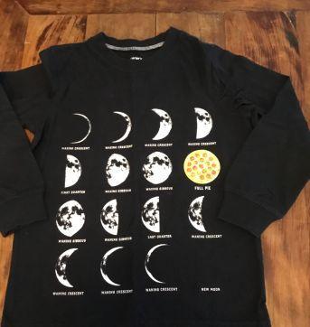 Camiseta manga longa Carter's / fases da lua - 4 anos - Carter`s