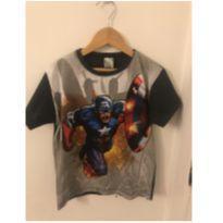 Camiseta Capitão américa - 6 anos - sem etiqueta