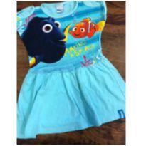vestido em algodão, azul, com dory e nemo da disney. - 3 anos - Disney