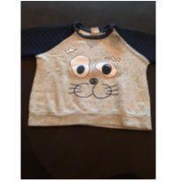 Blusa de frio gatinho - 9 a 12 meses - By Gus