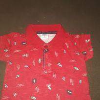 Camiseta polo verão - 9 a 12 meses - Elian
