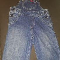 Jardineira jeans - 9 a 12 meses - PUC