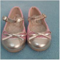 sapato rosa/dourado - 21 - lulopé