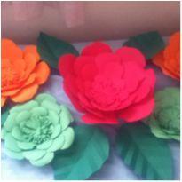 decoracao com Flores papel -  - Não informada