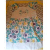 vestido margaridas - 12 a 18 meses - NINA BABY