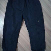 Calça  tactel azul forrada - 3 anos - Não informada