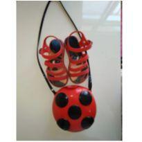 Sandália e bolsa Ladybug - 27 - Grendene