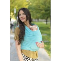 Wrap Sling Canguru, Azul Bebê, 100% Algodão - Sem faixa etaria - Sling Mamãe e Bebê
