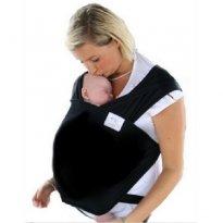Wrap Sling Carregador de Bebê, 100% Algodão, Preto - Sem faixa etaria - Sling Mamãe e Bebê