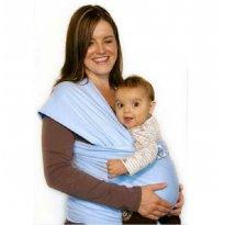 Wrap Sling Carregador de bebê Azul Claro - Sem faixa etaria - Sling Mamãe e Bebê