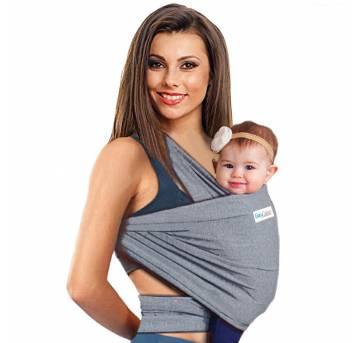 Wrap sling Cinza Mescla - Sem faixa etaria - Sling Mamãe e Bebê