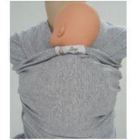 wrap sling Cinza de algodão -  - Sling Mamãe e Bebê