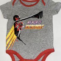 Body Mãe Incrível - 6 a 9 meses - Disney
