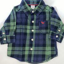 Camisa xadrez Carters - 3 meses - Carter`s