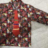 Camisa xadrez com gravatinha - 2 anos - Fantasias  Sulamericana