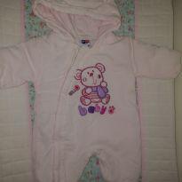 Macacão fofo branco e rosa - 0 a 3 meses - Tip Top