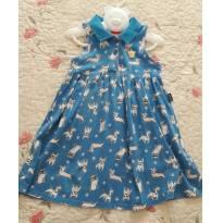 Vestido azul cachorrinhos - 4 anos - Kyly