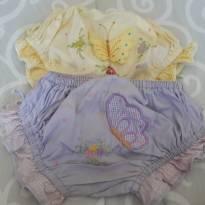 Duas calcinhas bordadas - 12 a 18 meses - Não informada