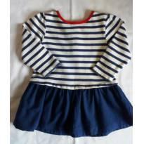 Bata/vestido - 9 a 12 meses - DPam - França