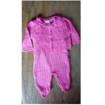 Macacão rosa em fio - 3 a 6 meses - Noruega Baby