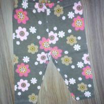 Calça Carter`s marrom com flores - 3 meses - Carter`s