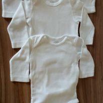 Trio bodys branco manga longa Carter`s - 3 meses - Carter`s