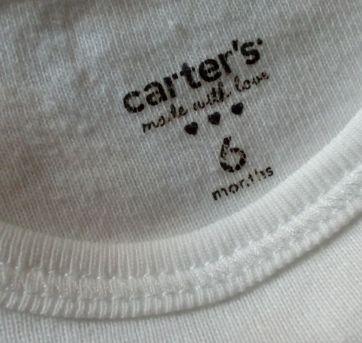 Duo body branco Carter`s manga curta - 6 meses - Carter`s