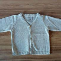 Casaquinho tricô cinza Hering - 9 a 12 meses - Hering Kids