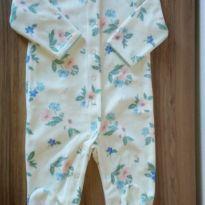 Macacão em fleece flores Carter`s - 6 meses - Carter`s