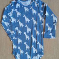 Body manga longa girafas Carter`s - 18 a 24 meses - Carter`s