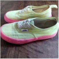 Tênis Vans infantil verde e rosa - 28 - Vans