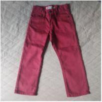 Calça Levis 511 Slim bordô e reta nas pernas - 3 anos - Levi`s