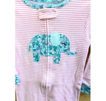 Macaquinho pijama elefante Carter`s - 18 meses - Carter`s
