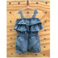 Jardineira rompers jeans Carter´s super fofa - 18 a 24 meses - Carter`s