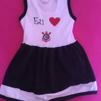 Vestido do Corinthians - 9 a 12 meses - varios