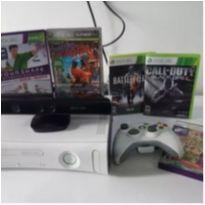 xbox 360 + kinect + 1 controle + 5 jogos -  - Microsoft