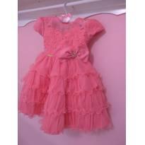 Vestido de Festa Rosa - 12 a 18 meses - Menina Bonita