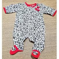 Macacão Fleece com estampa de Oncinha - 3 meses - Carter`s