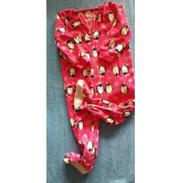 Macacão Rosa Fleece Pinguim - 18 meses - OshKosh