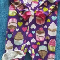 Macacão Lilás Fleece Cupcake - 2 anos - Carter`s