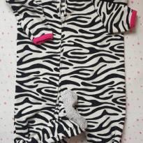 Macacão Fleece estampa Zebra - 2 anos - Carter`s
