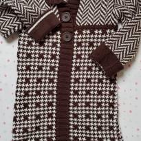 Vestido de Lã Marrom - 2 anos - CC Kids .