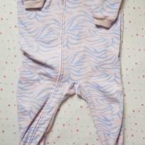 Macacão Fleece Rosa estampa Zebra - 18 meses - Carter`s