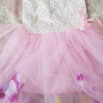 Vestido Rosa com flores - 1 ano - SK – Spunky kids