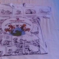 Camiseta infantil - 8 anos - TURMA DA MONICA