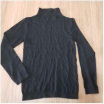 blusa manga longa segunda pele preta poliamida g marca marisa - G - 44 - 46 - marisa