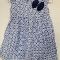 Vestido com laço azul! - 3 a 6 meses - Duduka